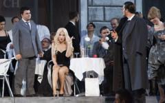 Un momento de «La traviata» in scena nel Cortile di Palazzo Pitti