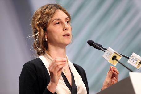 Marianna Madia, ministro per la Semplificazione e Pubblica Amministrazione in occasione della seconda giornata dell'assemblea annuale dell'Anci, Milano, 7 Novembre 2014. ANSA / MATTEO BAZZI