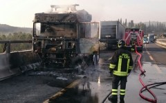 Firenze, A1: code di 8 km da Calenzano verso Bologna per incendio a mezzo pesante