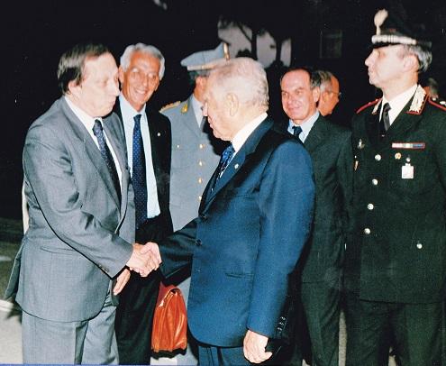 Uno dei frequenti incontri di Paolo Padoin, da prefetto, con l'allora Presidente della Repubblica, Carlo Azeglio Ciampi