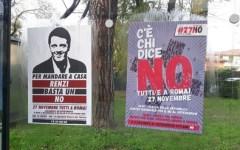 Pisa: manifesti per il no al referendum in tutta la città. Messi dai centri sociali. L'ira del sindaco Filippeschi