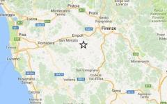 Terremoto: nuova scossa di magnitudo 2.0 in Valdelsa. Epicentro Castelfiorentino