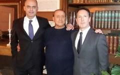 Lucca: il candidato sindaco Remo Santini (FI) ricevuto dal presidente Silvio Berlusconi