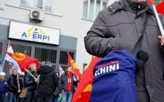 Piombino Aferpi: sciopero e manifestazione degli operai ex Lucchini (foto). Chiedono l'intervento del governo