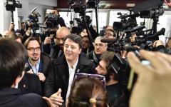 Firenze: Renzi pranza al Circolo Vie Nuove con gli iscritti del Pd