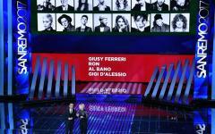 Sanremo 2017:  eliminati Giusy Ferreri, Ron, Al Bano, Gigi D'Alessio. Virginia Raffaele fa Sandra Milo