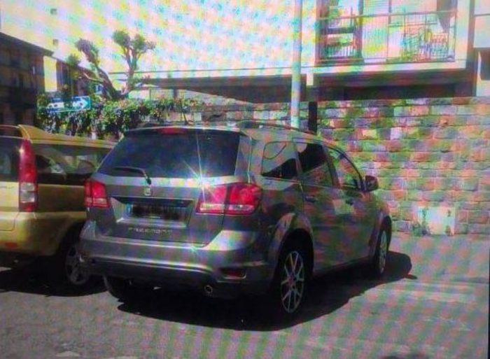 Nardella parcheggia sulle strisce, foto sul web