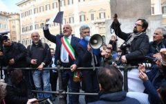 Roma: protesta dei terremotati a Montecitorio, blocchiamo l'Italia