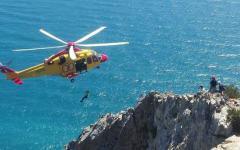 Grosseto: scalatore settantenne salvato i n parete a Monte Argentario dall'elicottero del 118