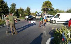 Civitella Valdichiana (Ar): motociclista muore nello scontro con un'auto