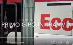Firenze, tram: prove linea 3, il sindaco sale sul convoglio in Viale Morgagni (video)