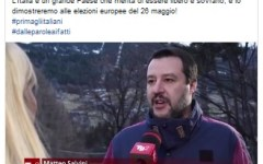 Elezioni Europee: Salvini anticipa su facebook, si terranno il 26 maggio