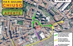 Firenze: lavori via Reginaldo Giuliani, chiusure e deviazioni fino al 7 settembre