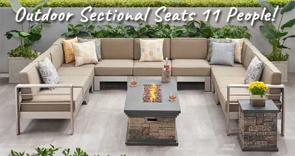 outdoor sofa set with fire pit a