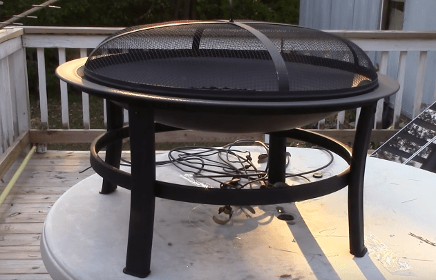 Open fire with fire pits