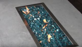 fire pit glass lowes