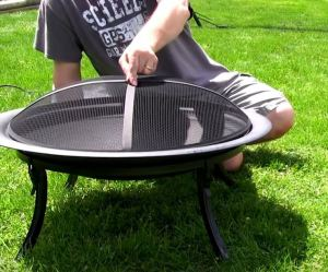 fire pit screen 32 inch