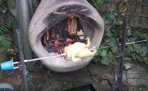 chiminea bbq grill