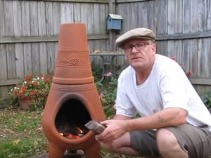 clay chiminea home depot