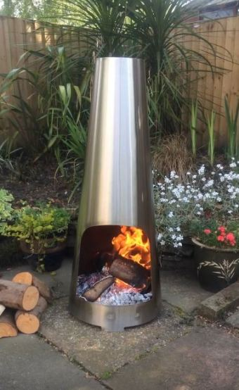metal chiminea paint