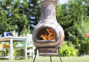 mexican chiminea outdoor fireplace