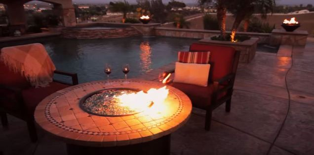backyard fire pit tables