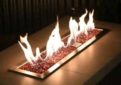 fire pit glass for propane