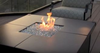 fire pit glass stones lowes