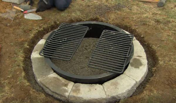 fire pit insert round