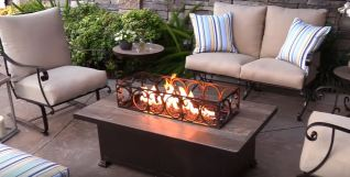outdoor fire pit gas