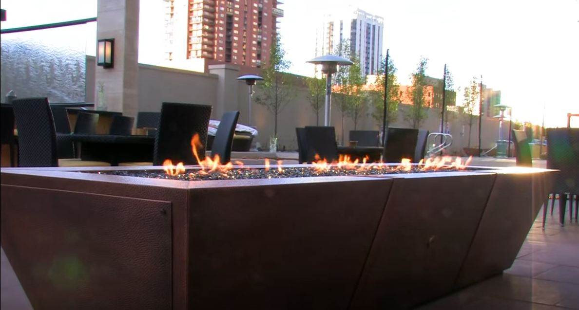 outdoor fire pit ideas gas