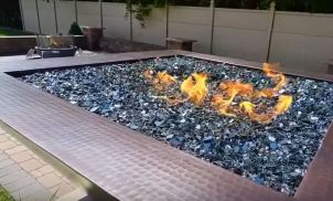 outdoor gas fire pit rectangle
