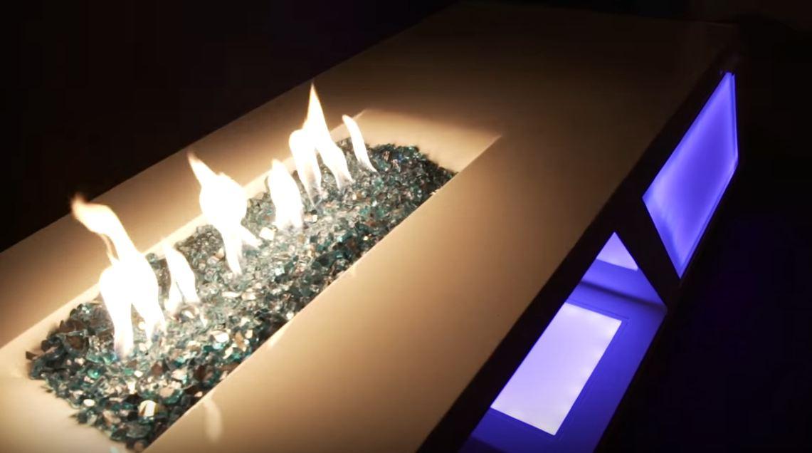 reflective fire pit glass