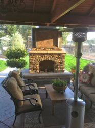 gas fireplace outside