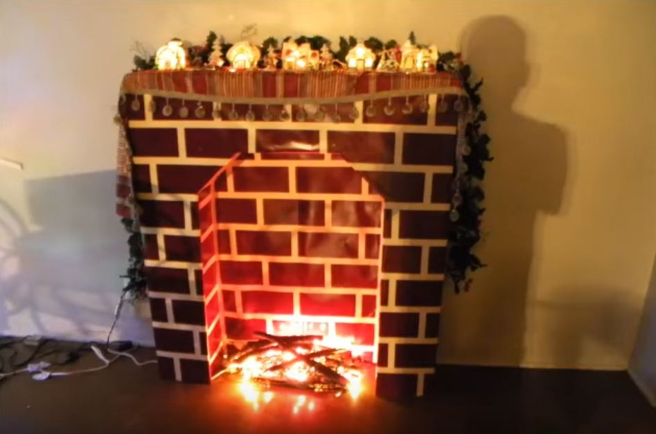home depot fake fireplace