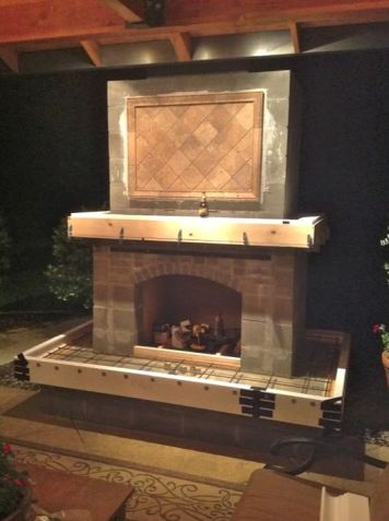 how to build a outside fireplace