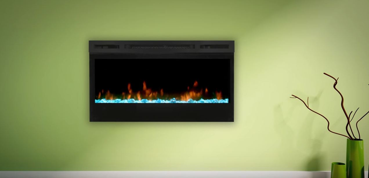 in wall electric fireplace