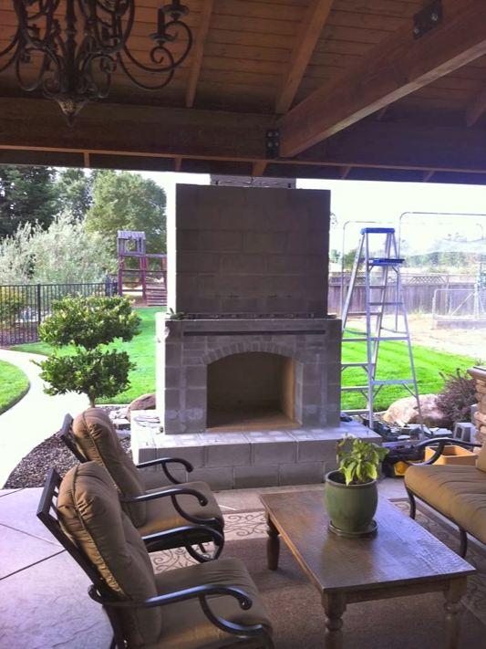 inside outside fireplace
