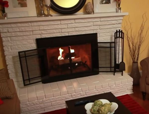 modern fireplace doors
