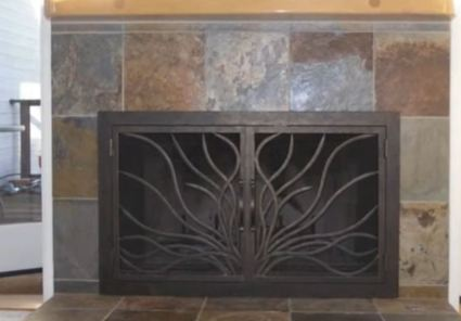 painting fireplace doors
