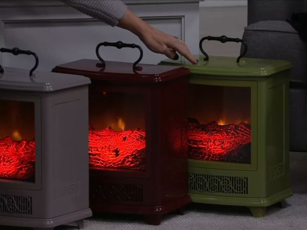 portable fireplace mantel