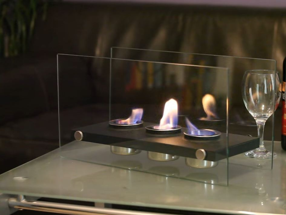 portable gas fireplace