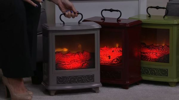 small portable fireplace