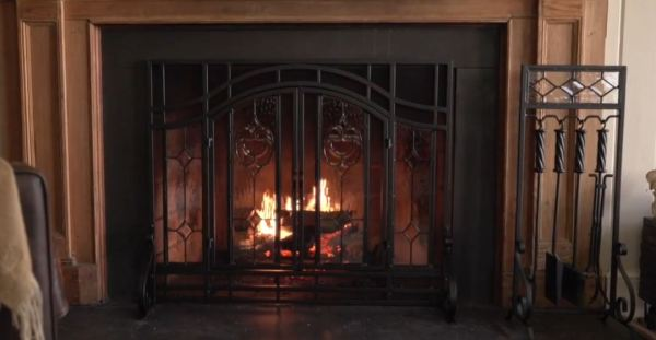 spark guard fireplace screens