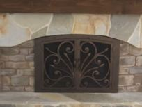 wrought iron fireplace doors