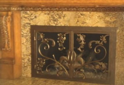 zero clearance fireplace doors