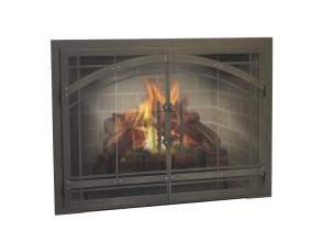 fireplace glass doors houston_15