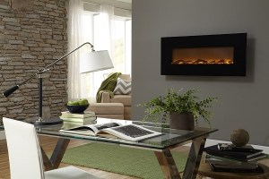 """Touchstone Onyx Electric Wall Mounted Fireplace Review - 50"""""""