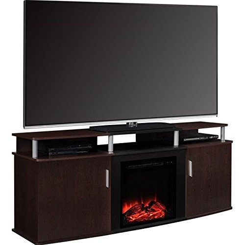 best electric fireplace tv stand furniture carson fireplace tv console