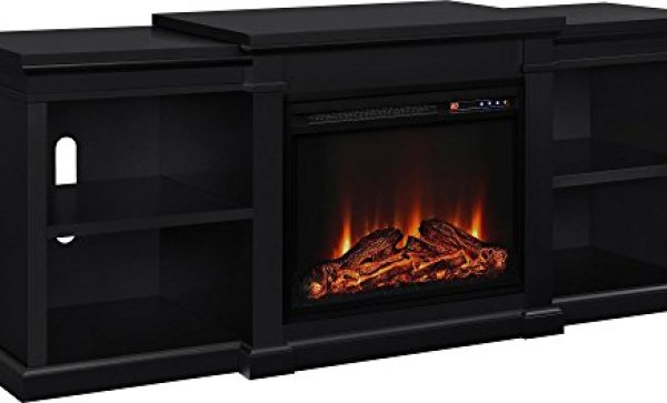 best electric fireplace tv stand Reviews-Altra Furniture Manchester TV Stand with Electric Fireplace